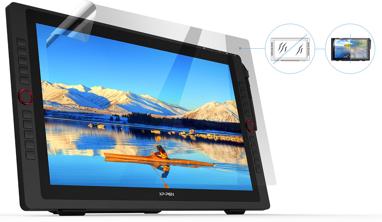 XP-Pen Artist 22R Pro Graphic Pen Display comes with a protective film
