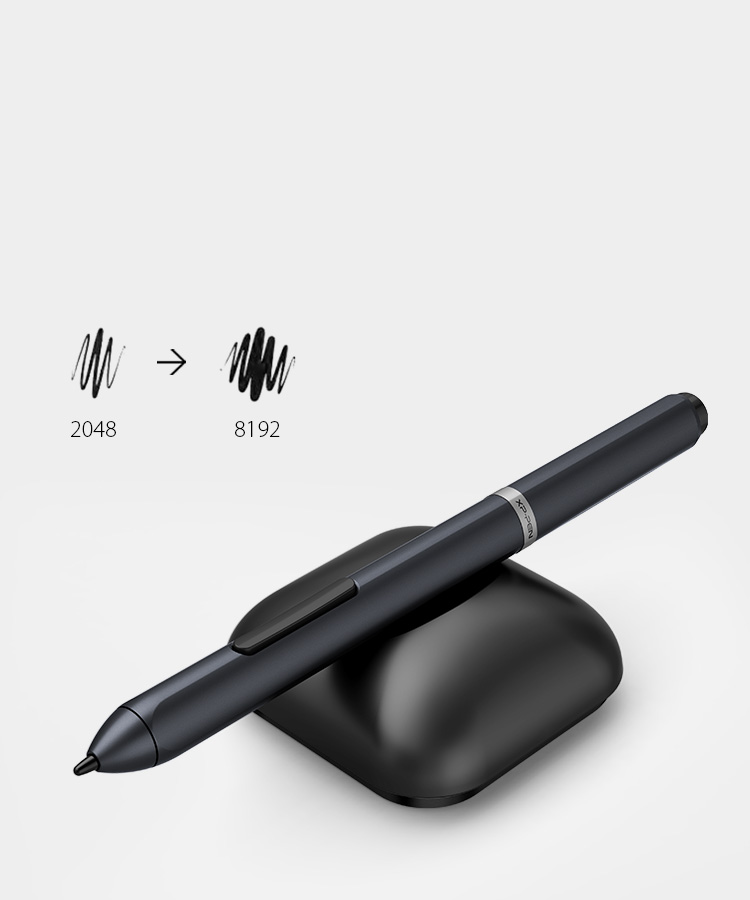 Deco 01 graphics art pad stylus features of 8192 levels of pressure sensitivity