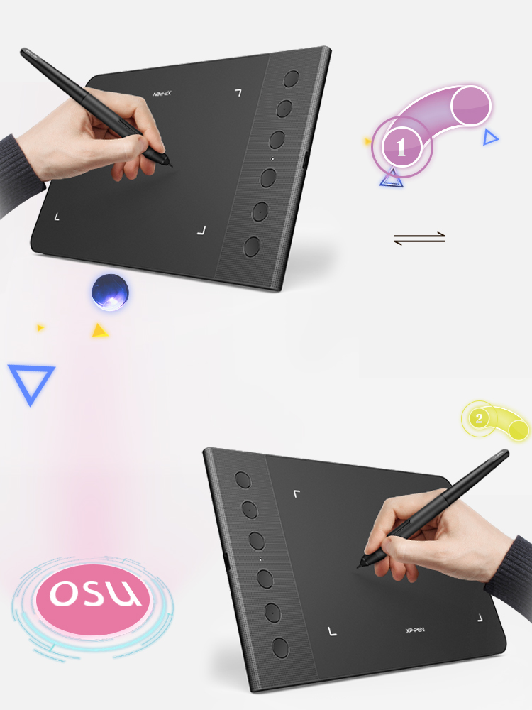XP-Pen Star G640S digital art pad Designed for Both hands covered